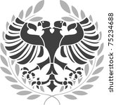 heraldic eagle. stencil. vector ... | Shutterstock .eps vector #75234688