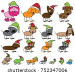 vector collection of christmas... | Shutterstock .eps vector #752347006