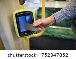 close up shot of a commuting... | Shutterstock . vector #752347852