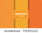 geometric pattern set. simple ... | Shutterstock .eps vector #752351212