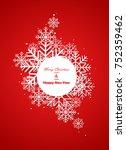 winter background | Shutterstock .eps vector #752359462