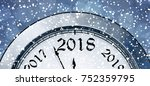 new year's eve 2018 | Shutterstock .eps vector #752359795