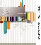 eps10 vector multicolor vintage ... | Shutterstock .eps vector #75236032