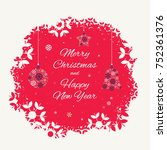 christmas card template with...   Shutterstock .eps vector #752361376
