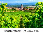 vineyards of france. famous... | Shutterstock . vector #752362546