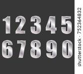 silver digital numbers vector... | Shutterstock .eps vector #752364832