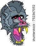 baboon vector | Shutterstock .eps vector #752367052