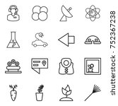 thin line icon set   call... | Shutterstock .eps vector #752367238