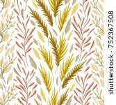 seamless pattern with marine...   Shutterstock .eps vector #752367508