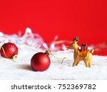 beautiful christmas ball... | Shutterstock . vector #752369782