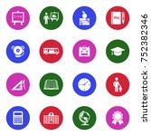 school icons. white flat design ... | Shutterstock .eps vector #752382346