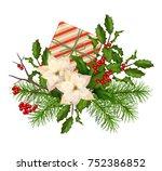 vector christmas decorations.... | Shutterstock .eps vector #752386852