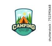illustration for sport camping  ...   Shutterstock .eps vector #752390668