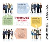 presentation of teams. design... | Shutterstock .eps vector #752392222