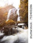 khlong lan waterfall the... | Shutterstock . vector #752403286