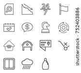 thin line icon set   search... | Shutterstock .eps vector #752403886