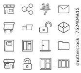 thin line icon set   shop ... | Shutterstock .eps vector #752404612