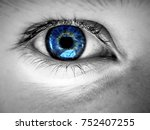 blue eye looking at you | Shutterstock . vector #752407255