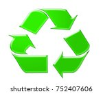 recycle symbol isolated on... | Shutterstock . vector #752407606