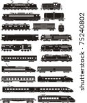cargo and passenger train... | Shutterstock .eps vector #75240802