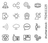 thin line icon set   share ... | Shutterstock .eps vector #752411125