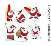 cartoon black santa claus...   Shutterstock .eps vector #752419246
