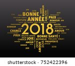 gold greeting french words... | Shutterstock .eps vector #752422396