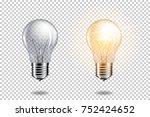 transparent realistic light... | Shutterstock .eps vector #752424652