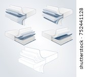 vector set mattress section on... | Shutterstock .eps vector #752441128
