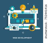 web development concept for web ... | Shutterstock .eps vector #752441416