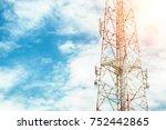 mobile phone communication...   Shutterstock . vector #752442865