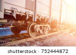 railroad cars loaded with coal  ... | Shutterstock . vector #752444872