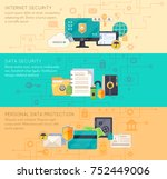 online business processing and... | Shutterstock . vector #752449006