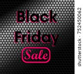 black friday with pink outline... | Shutterstock .eps vector #752450062