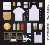 fast food pizza restaurant... | Shutterstock . vector #752451592