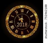vector 2018 shiny new year... | Shutterstock .eps vector #752462188