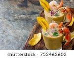 peruvian seviche leche de tigre.... | Shutterstock . vector #752462602