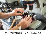 professional skilled key cutter ... | Shutterstock . vector #752466265