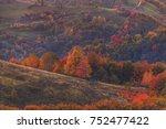 autumn on hills   autumn... | Shutterstock . vector #752477422