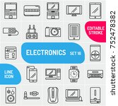 technology icons set. outline... | Shutterstock .eps vector #752478382