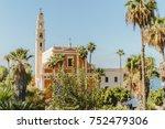 st peter church light in jaffa... | Shutterstock . vector #752479306