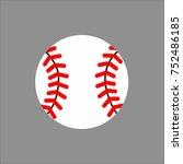 baseball icon vector | Shutterstock .eps vector #752486185