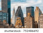 teal and orange color of nyc... | Shutterstock . vector #752486692
