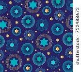 mod jewish star background... | Shutterstock .eps vector #752488672