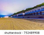 night view of bournemouth beach ... | Shutterstock . vector #752489908
