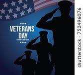 veterans day illustration. eps... | Shutterstock .eps vector #752496076