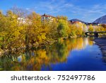 autumn colours surrounding the... | Shutterstock . vector #752497786