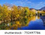 autumn colours surrounding the... | Shutterstock . vector #752497786