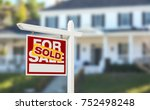 sold home for sale real estate... | Shutterstock . vector #752498248
