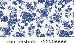 seamless floral pattern in... | Shutterstock .eps vector #752506666